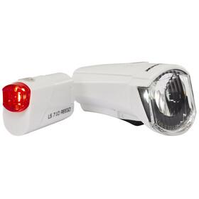 Trelock LS350 I-go Sport + LS710 Reego Bike Lights Sets white